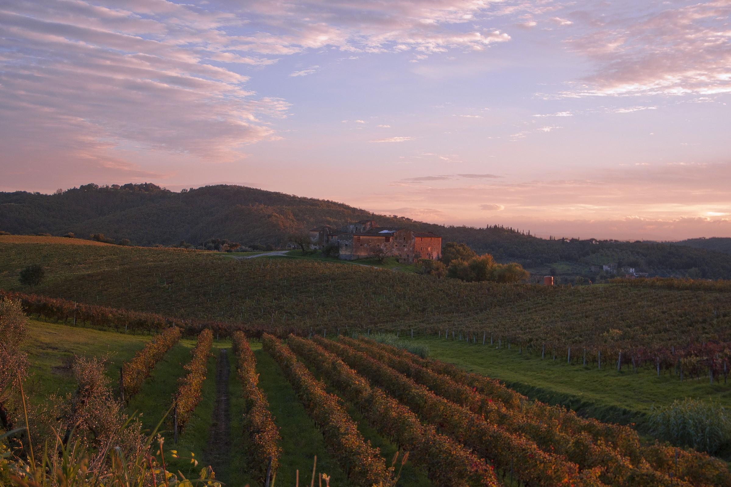 Tuscan farmhouse...