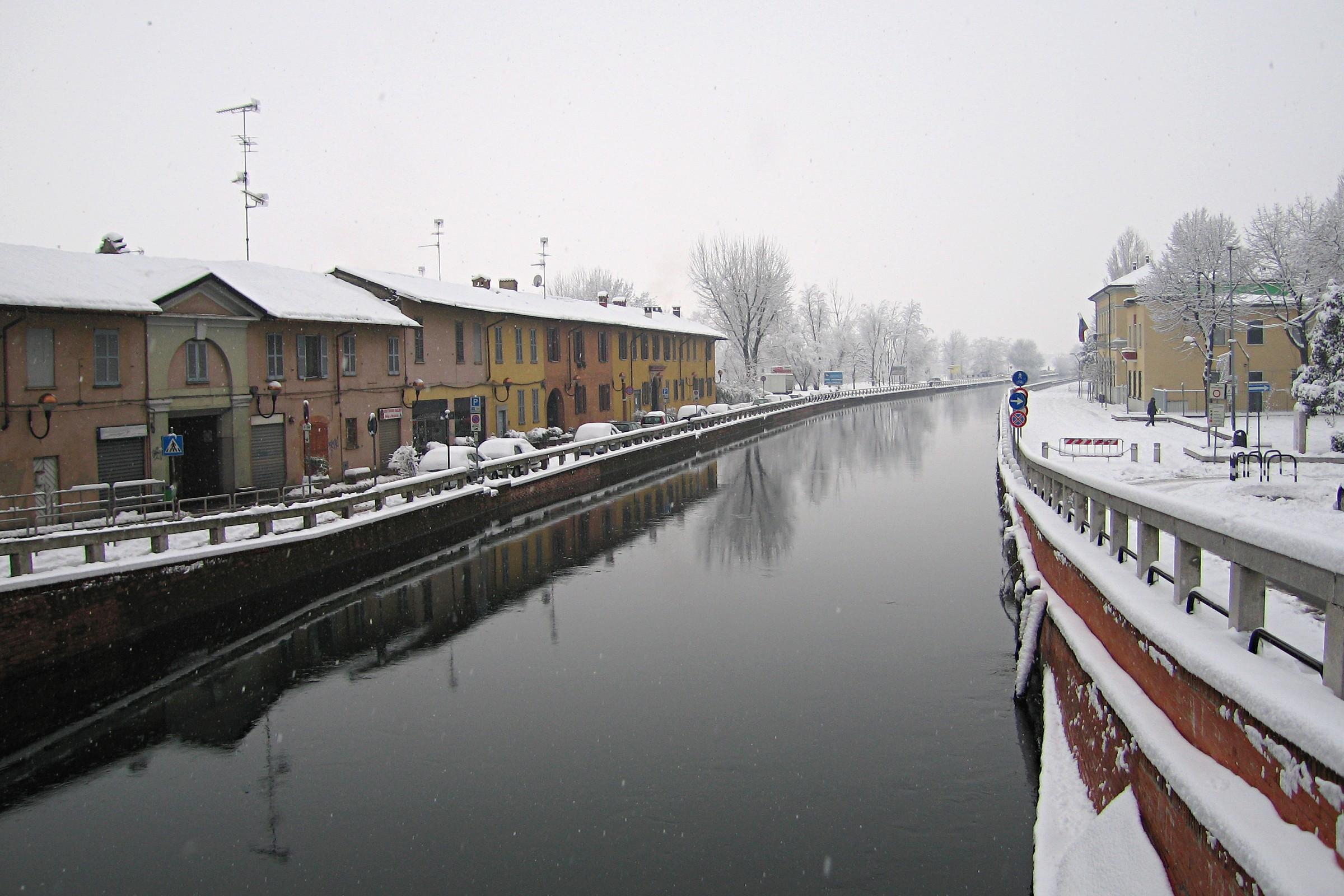 Neve sul Naviglio...