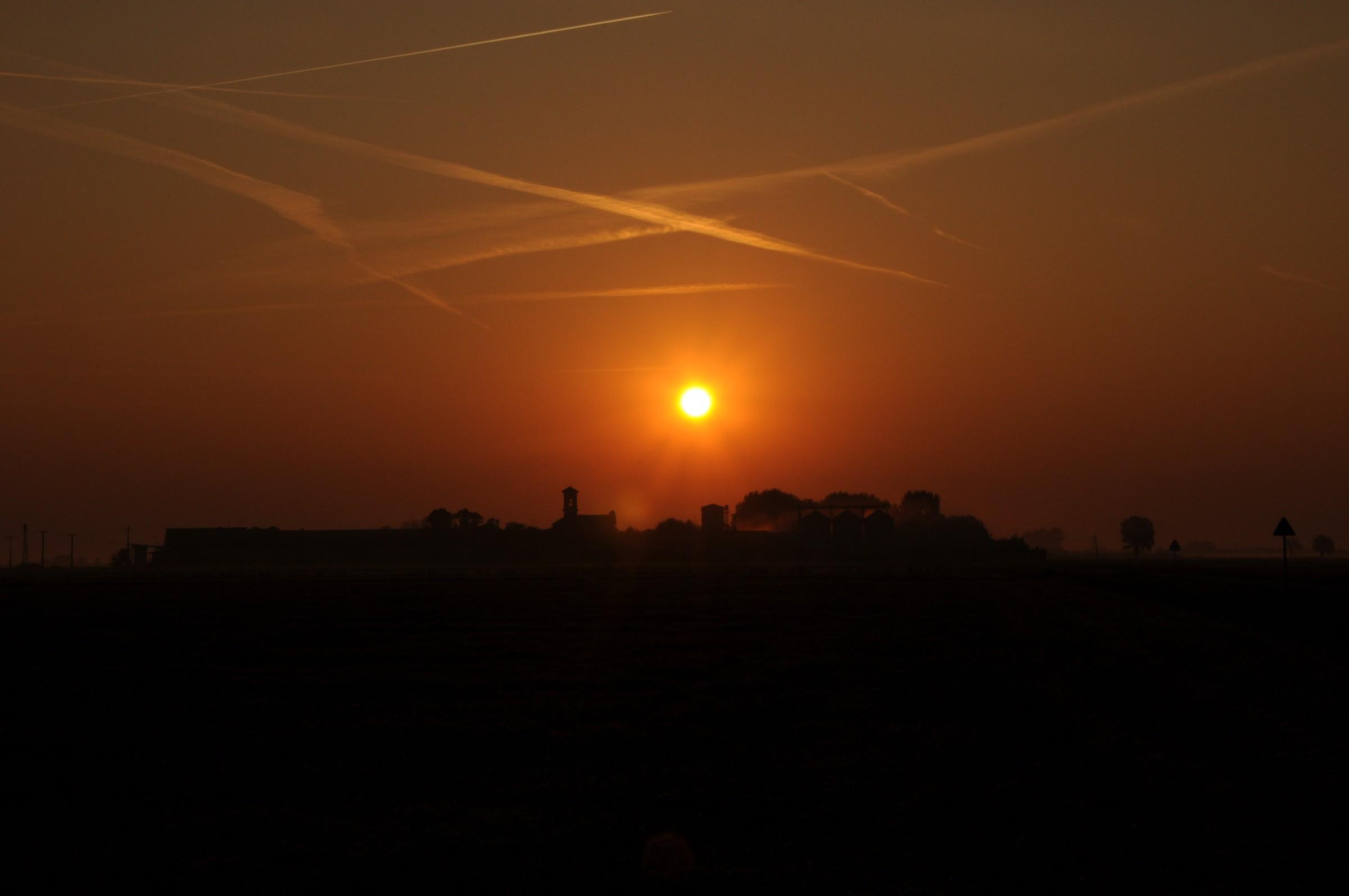 returning home at dawn...