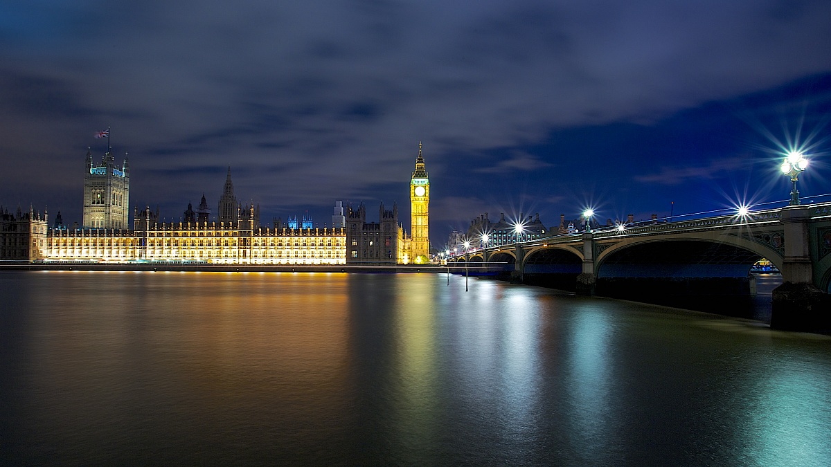 Westminster by night...