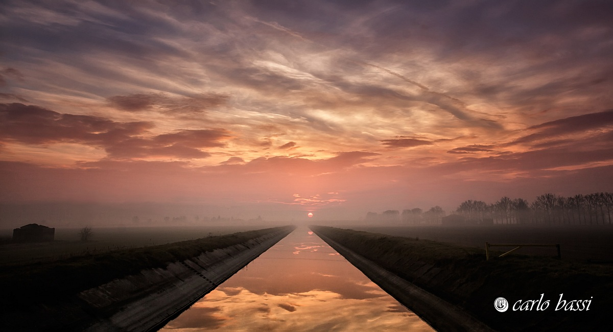 sunrise and its reflection...