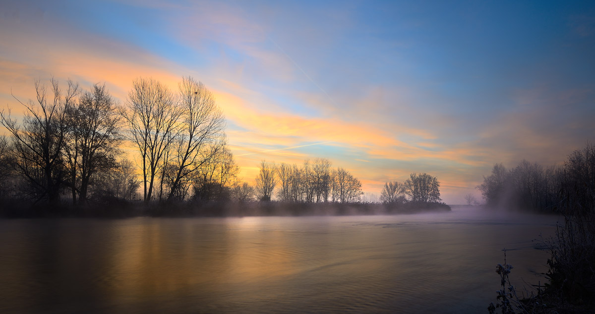 Alba sul fiume Mincio...