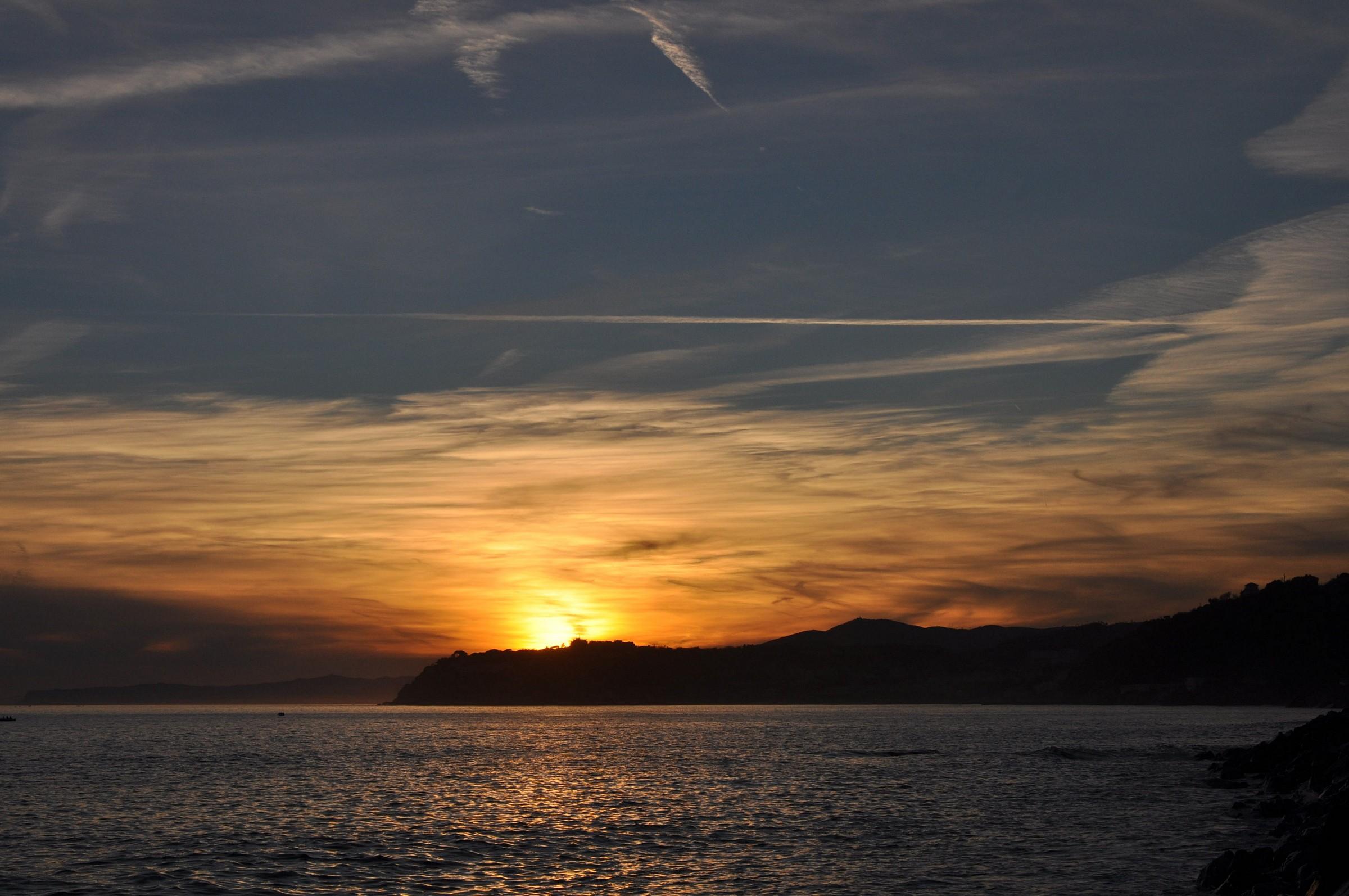 Shy sunset...