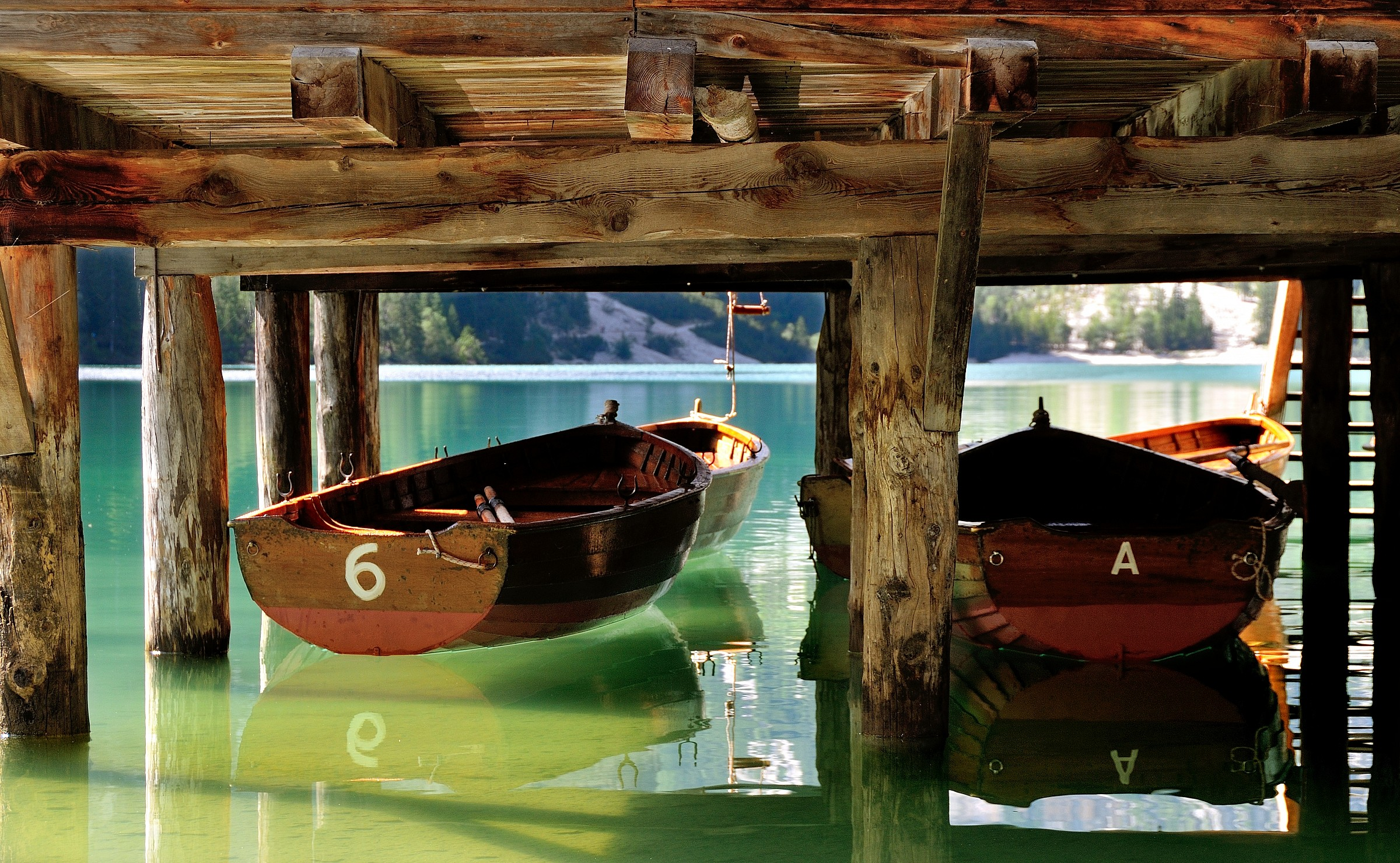Boats reflected...