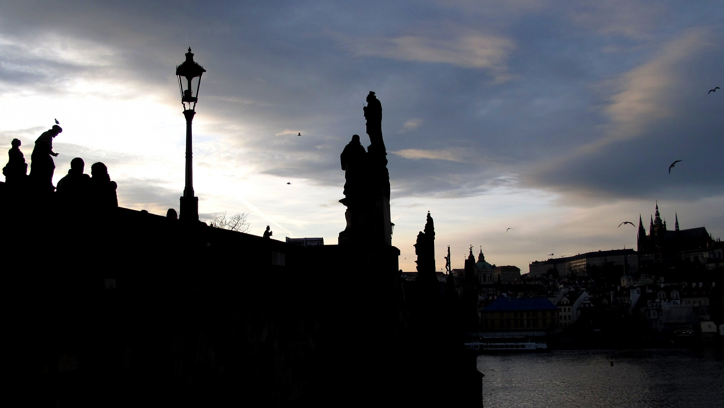 Evening silhouete...