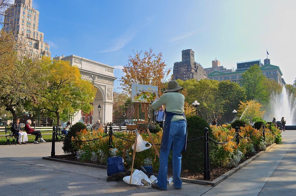 Painter in Washington Square...