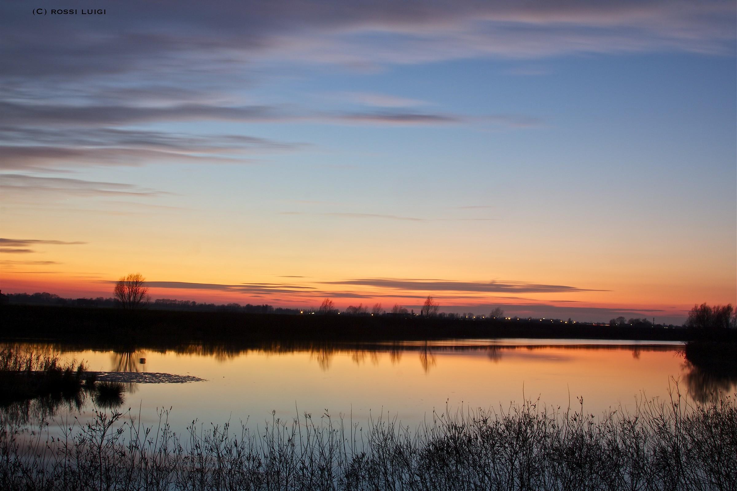 tramonto nel fiume...