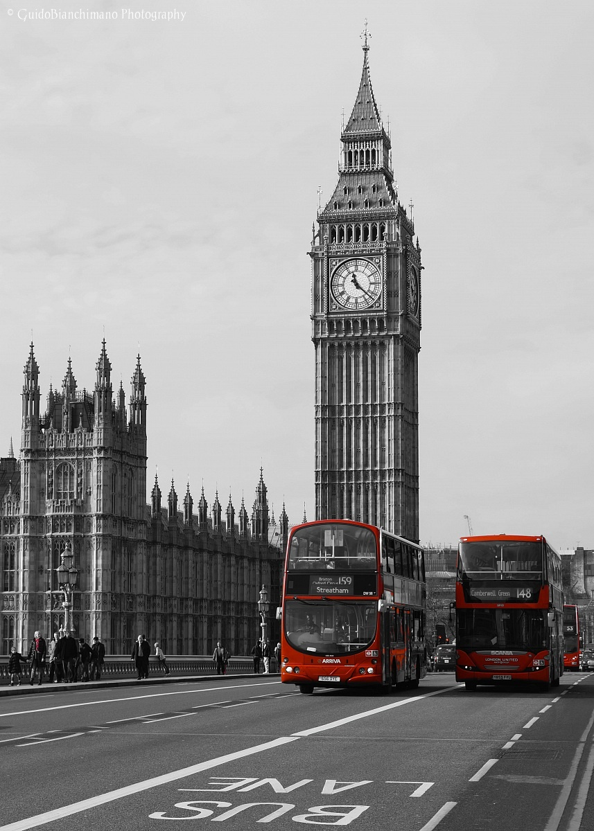 Red buses in London 2...
