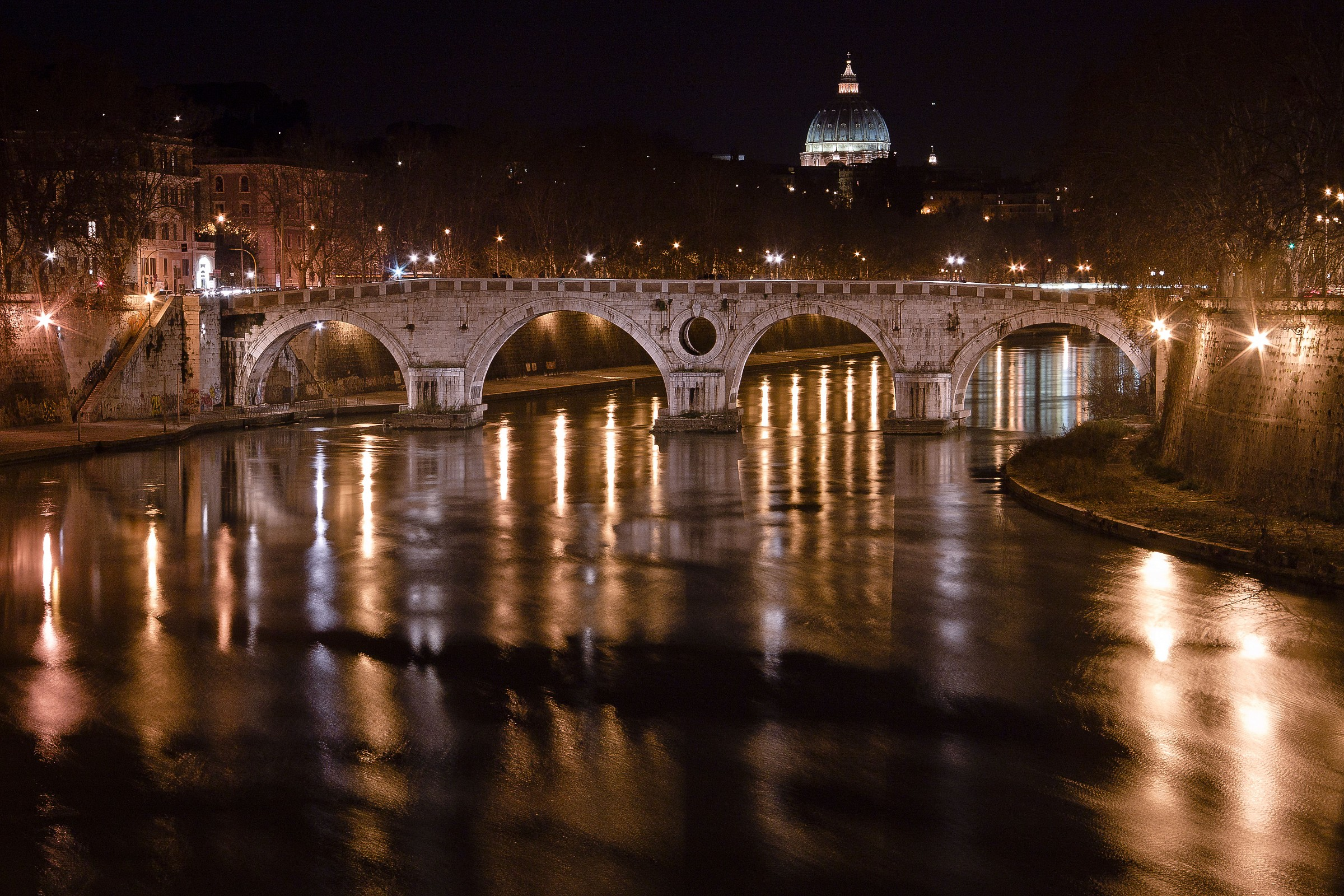 The flow of the Tiber...