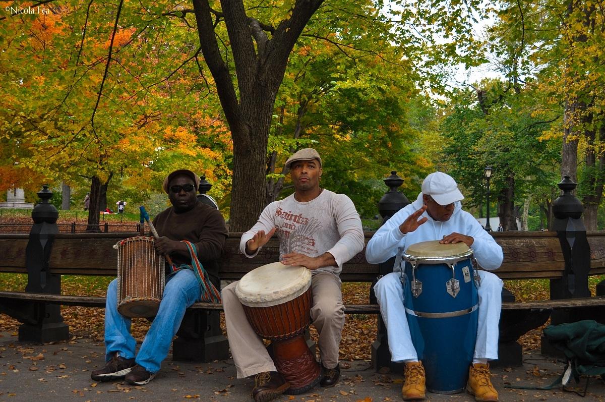 Central Park drummers...
