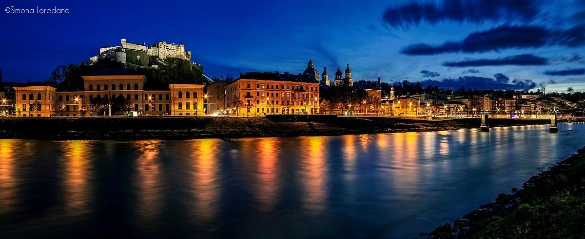 Salzburg during the blue hour...