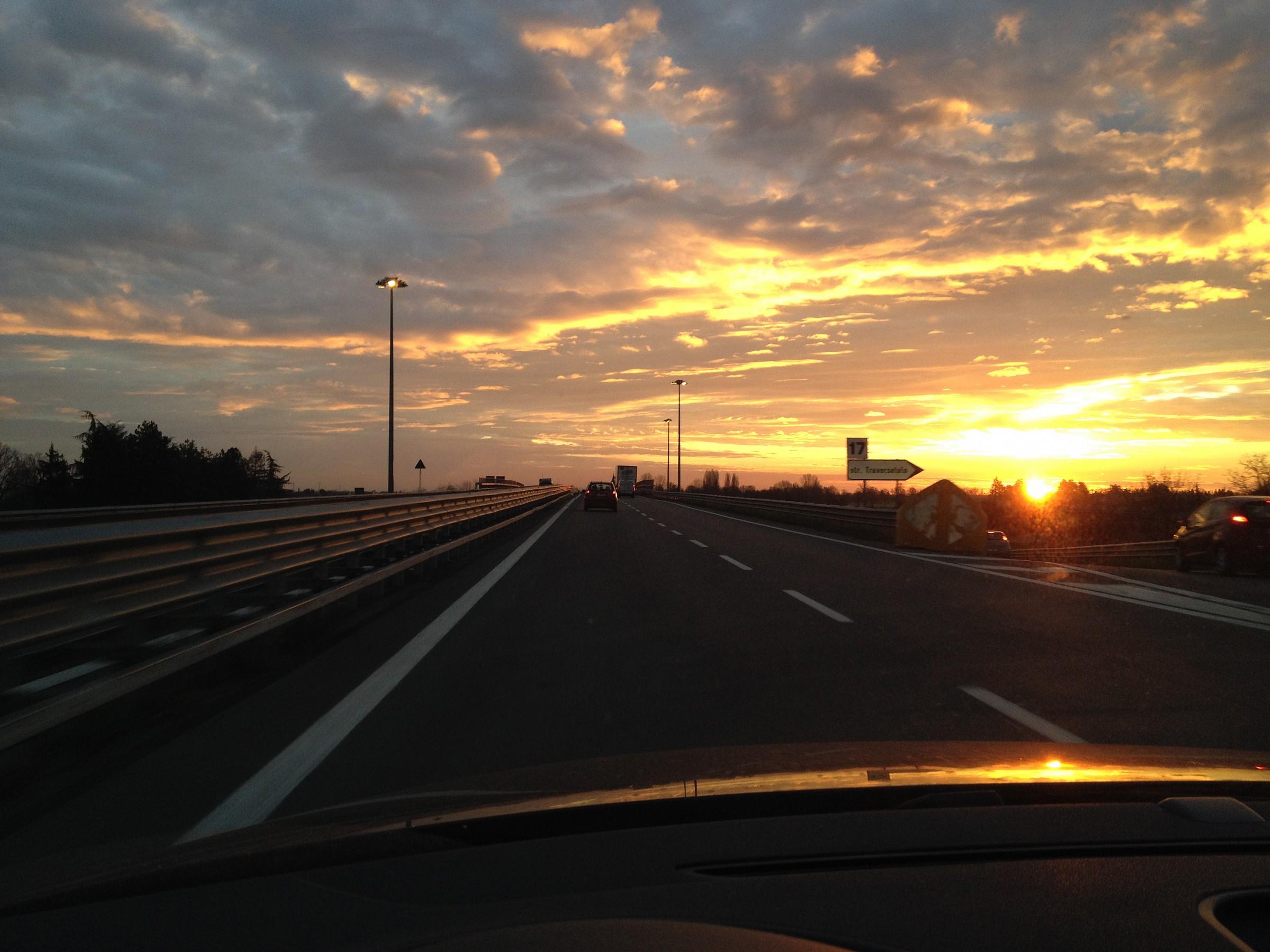 sunrise in tangential...