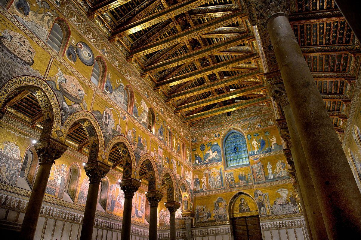 Dall 39 interno della cattedrale di monreale juzaphoto for Interno j