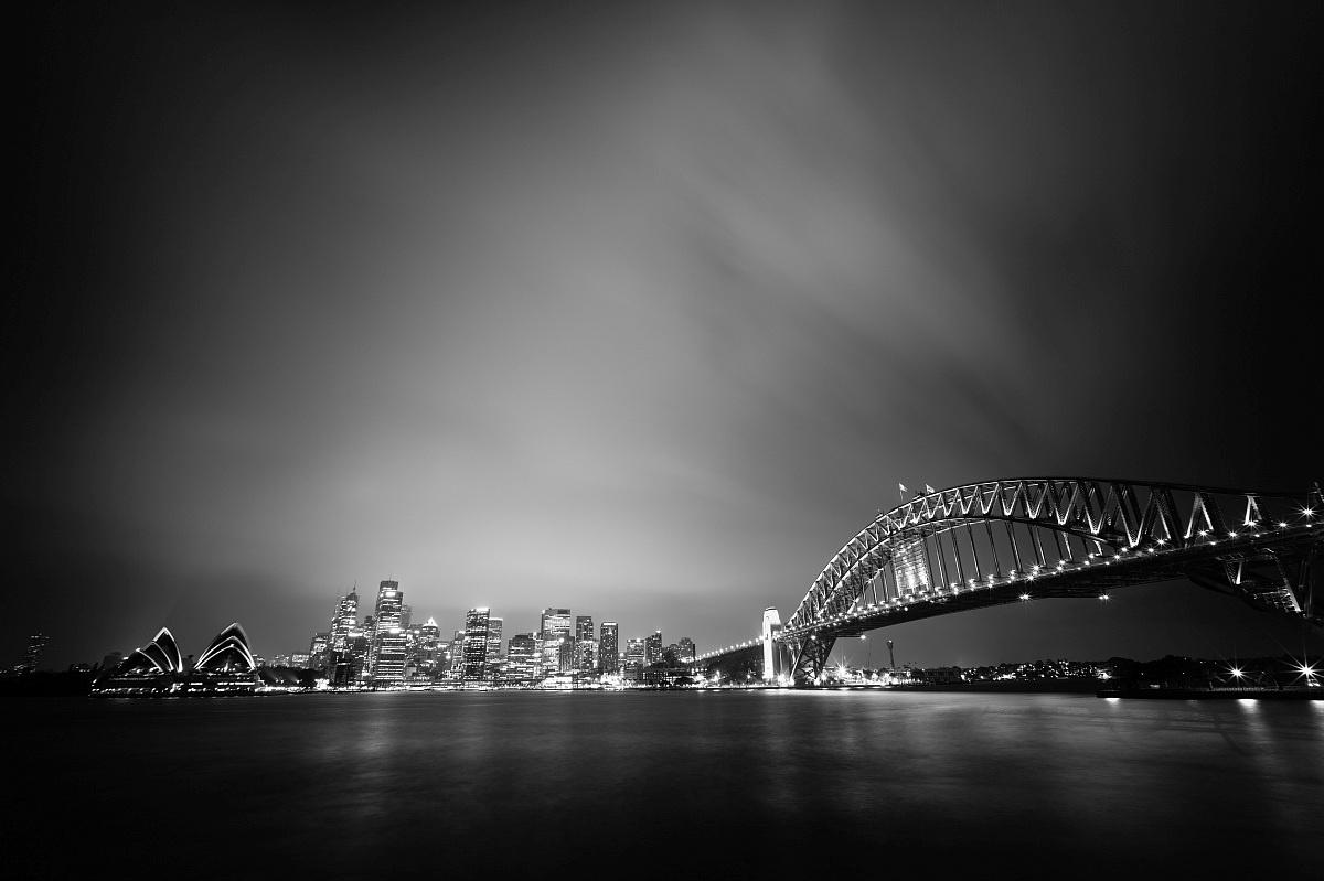 Cloudy night in Sydney...