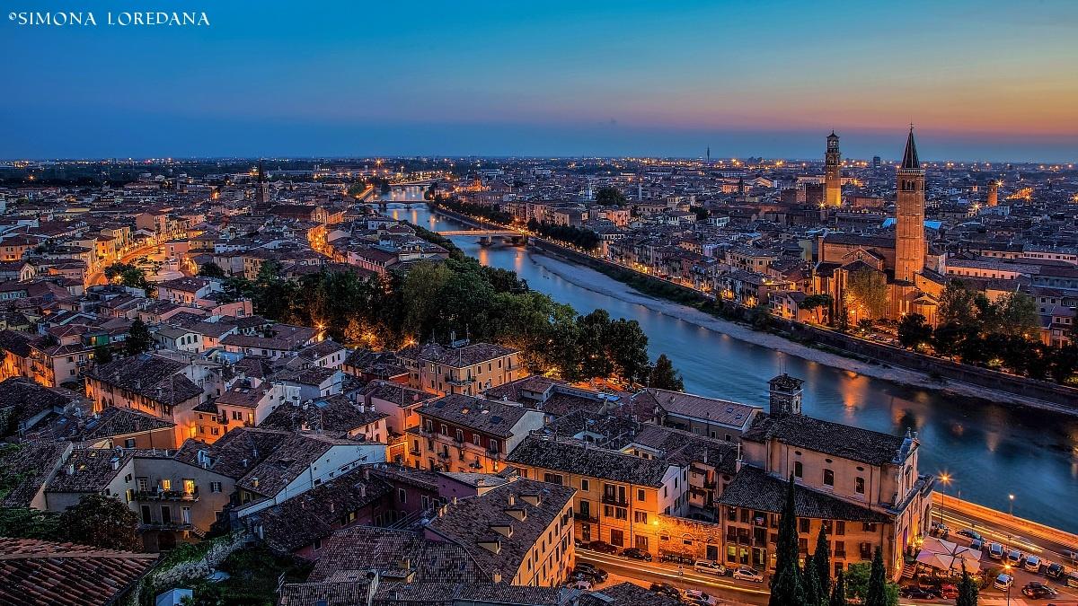 Verona at sunset....