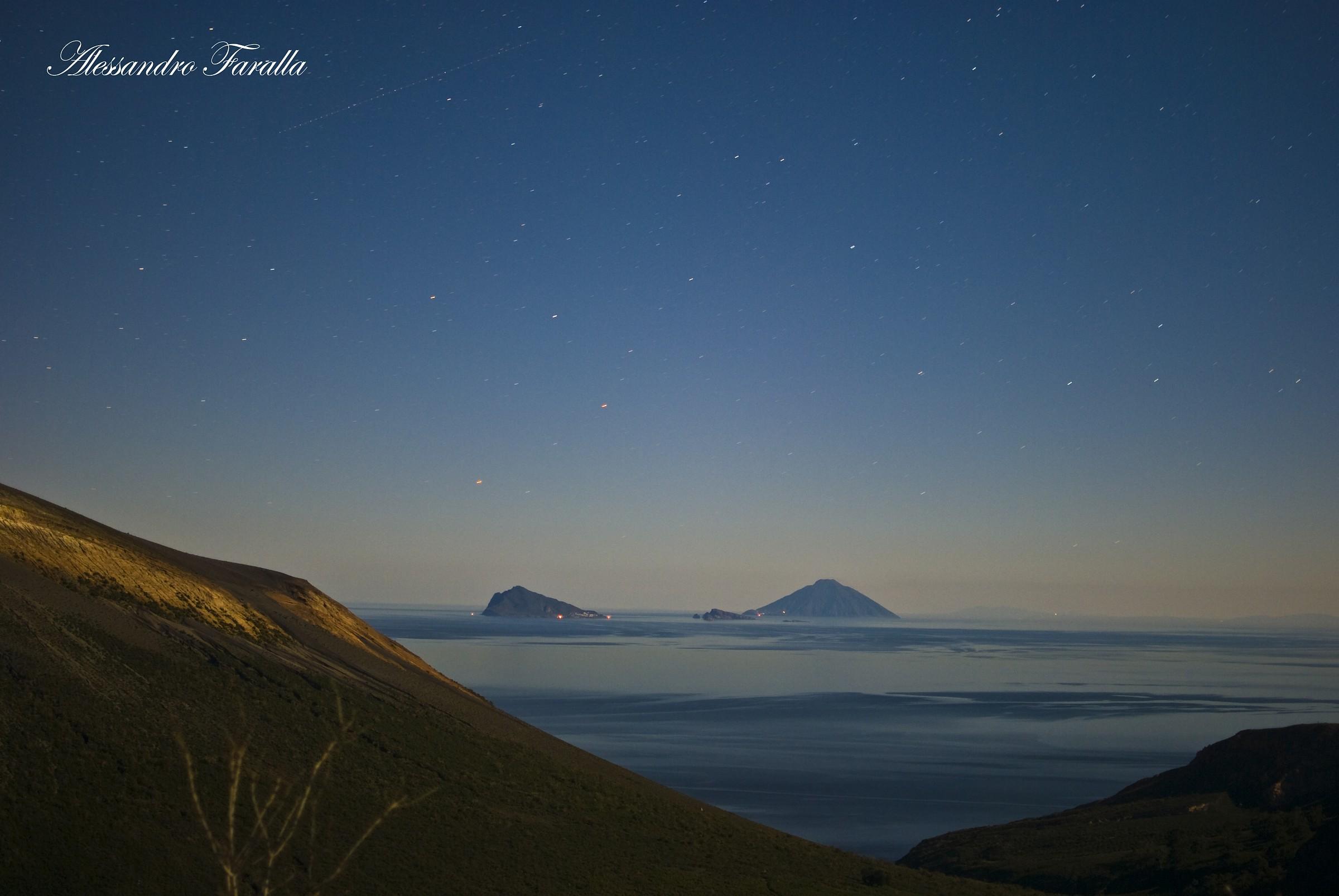 Panarea and Stromboli at night...