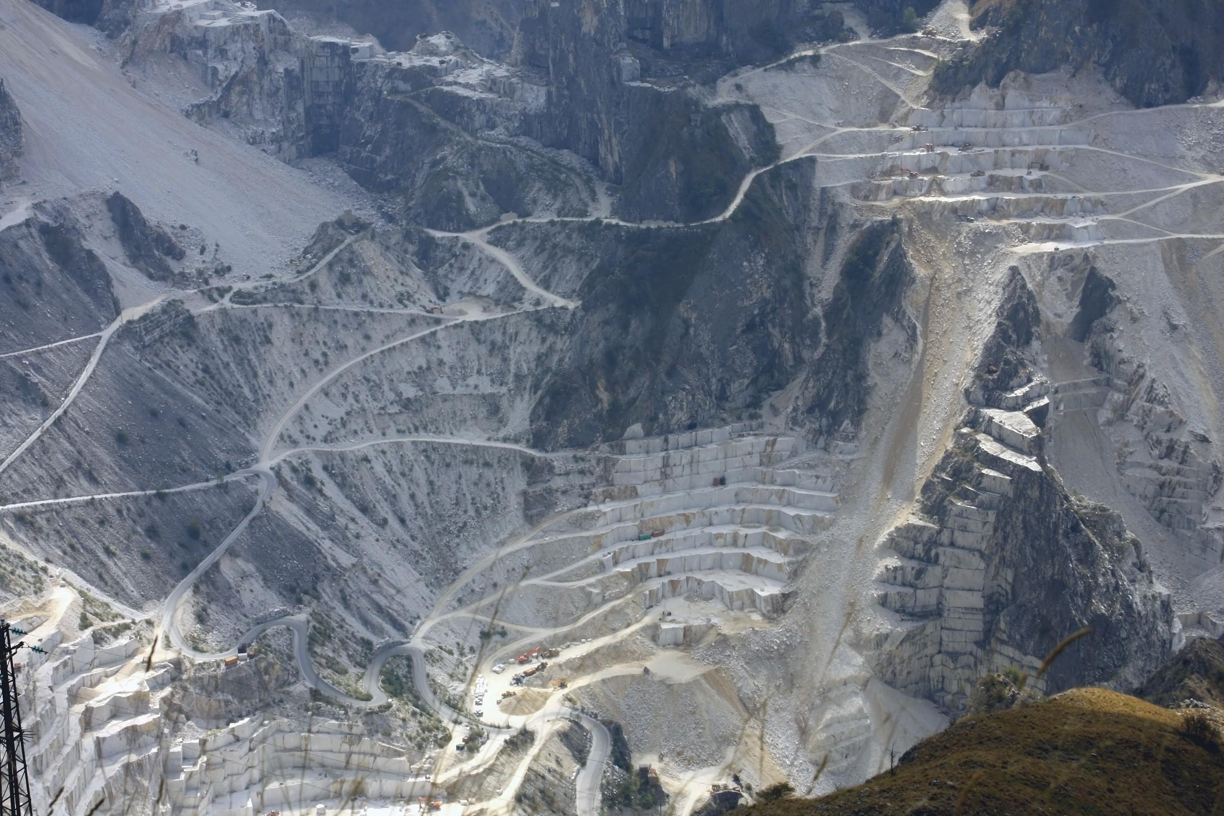 Apuane marble quarries...