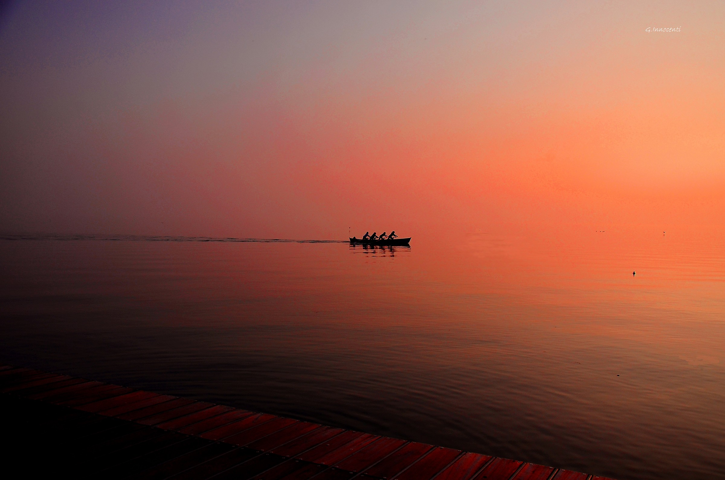 rowers at sunset...