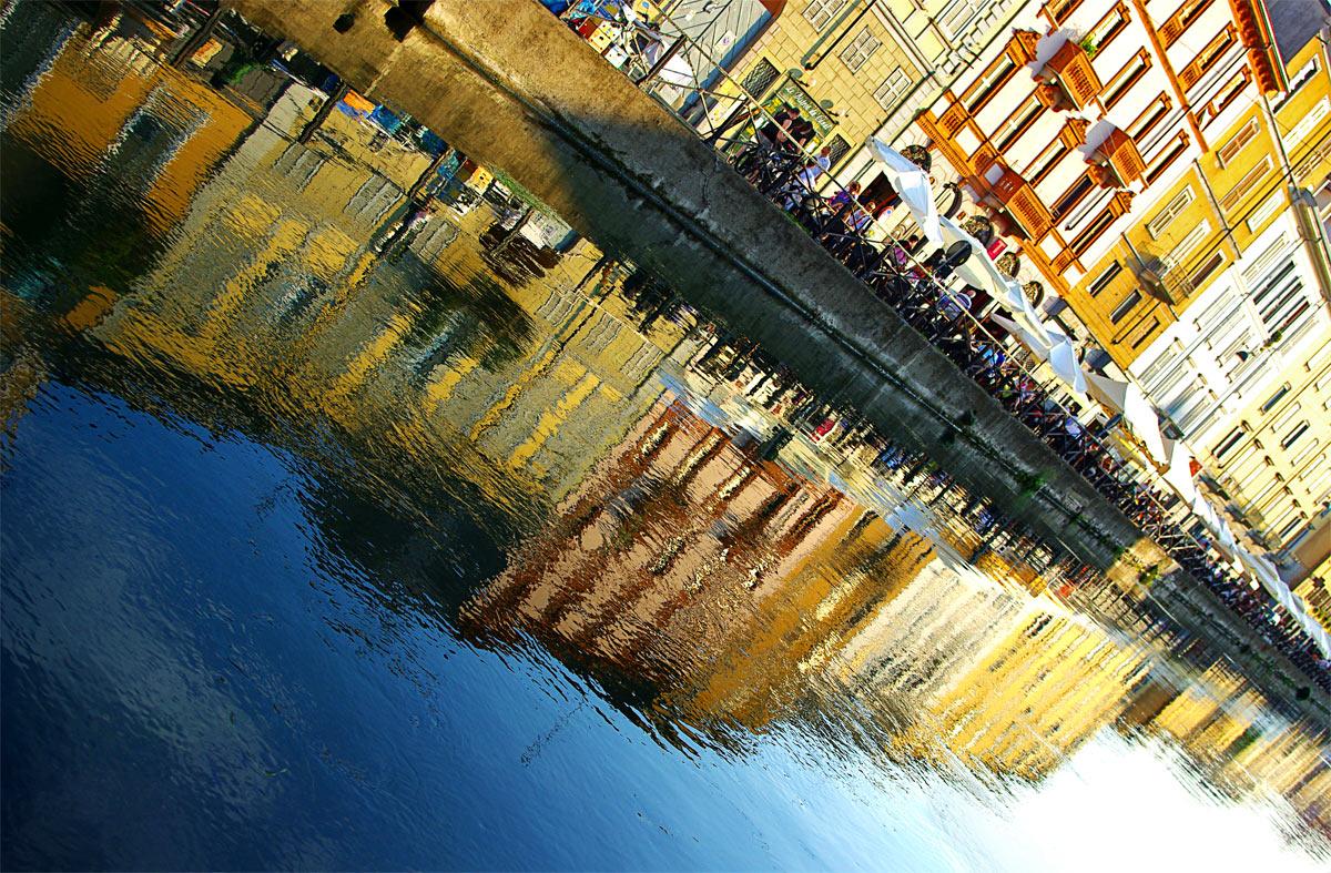Reflections on the Naviglio Grande...