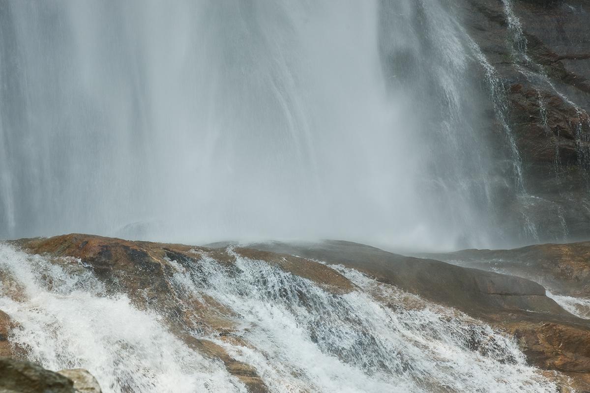 Waterfall Acquafraggia, Piuro (province Sondrio)...
