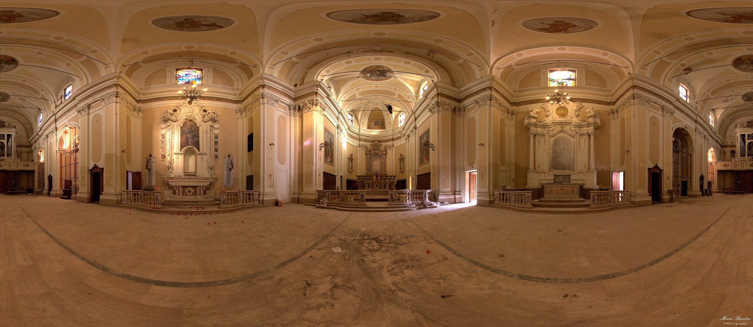Poggio Rusco, the Church after the earthquake of 2012...