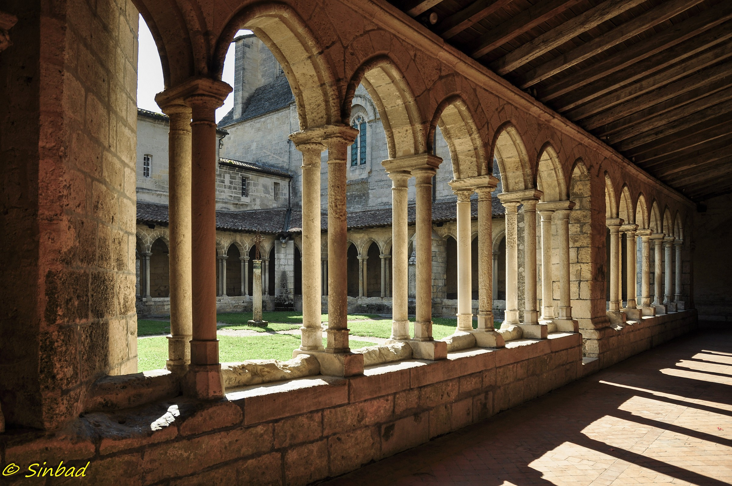 Cloister of the Collegiate Church of Saint-milion...