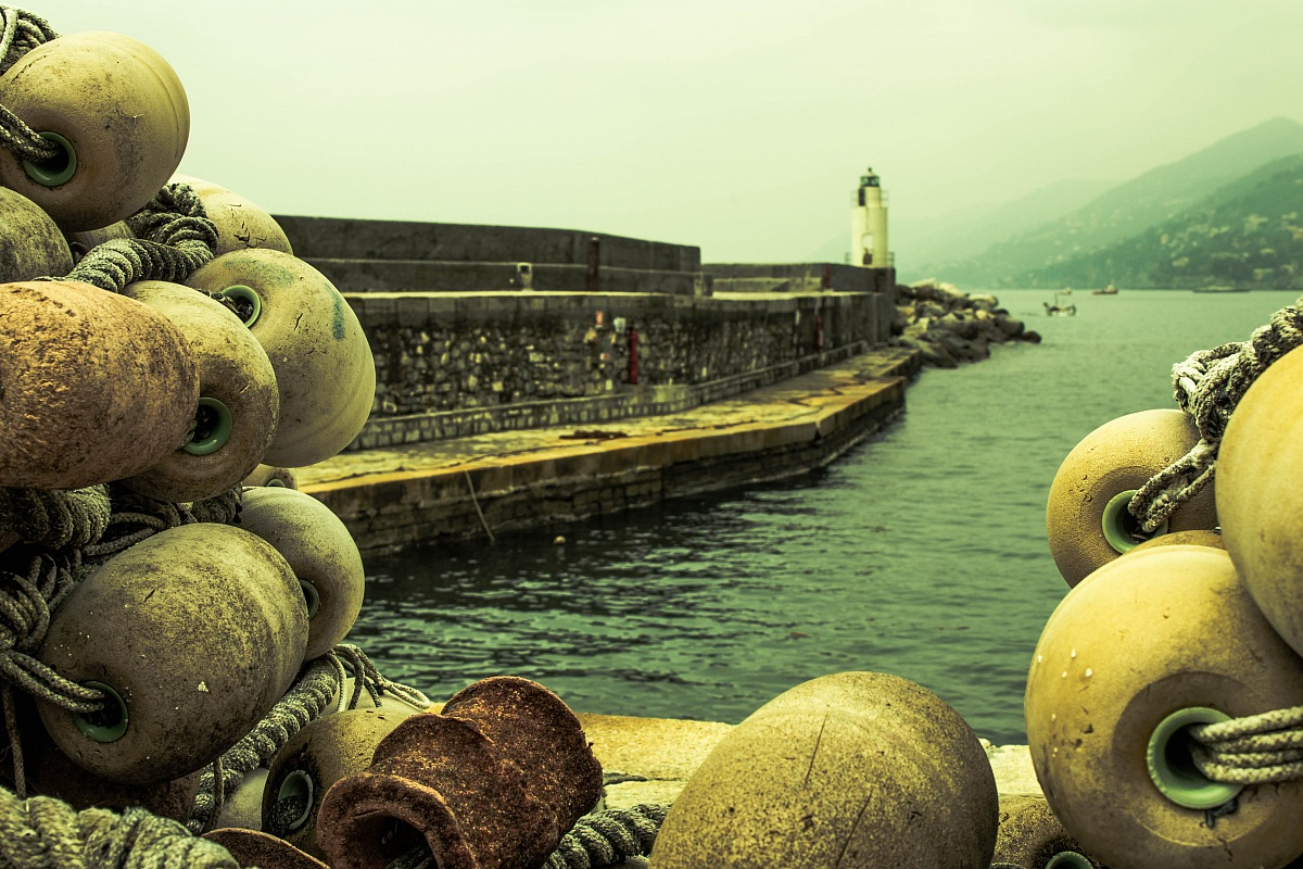 on the pier Camogli...