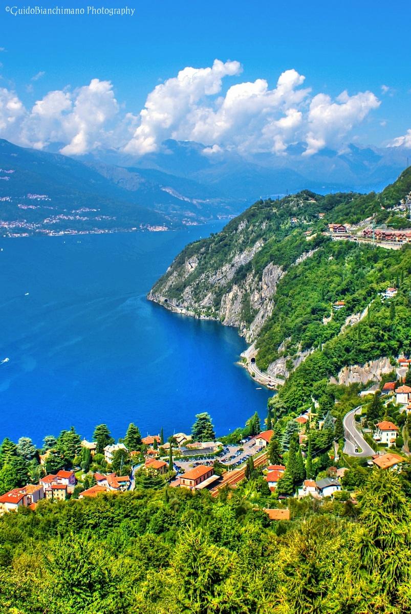 Lake Como View from the Castle of Vezio...