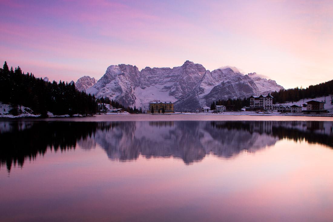 Misurina lake at sunset...