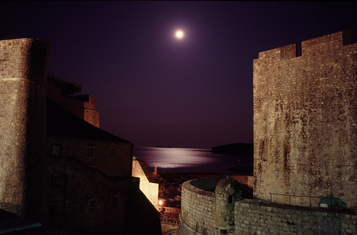 Moon in Dubrovnik...