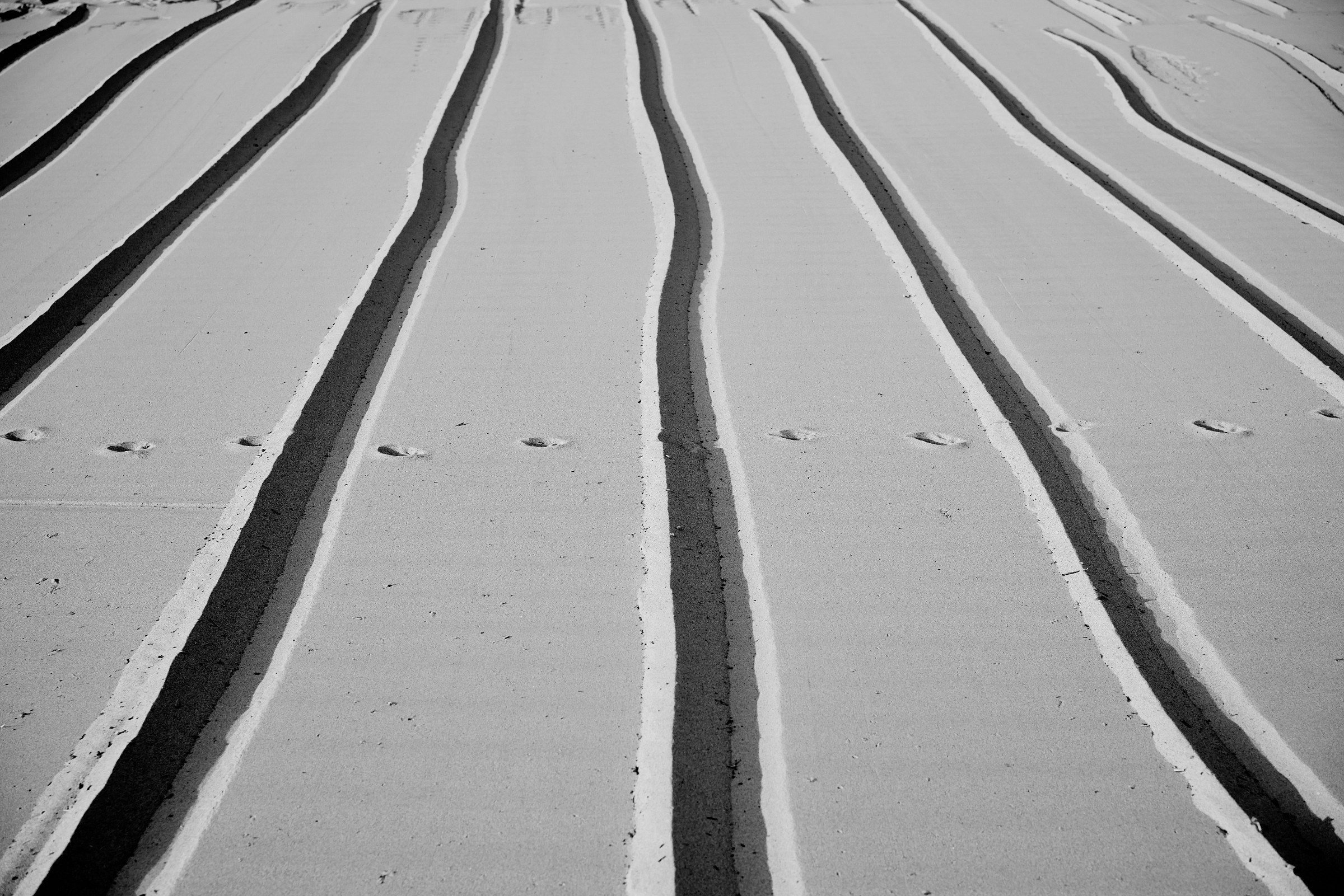 Impronte sulla spiaggia...