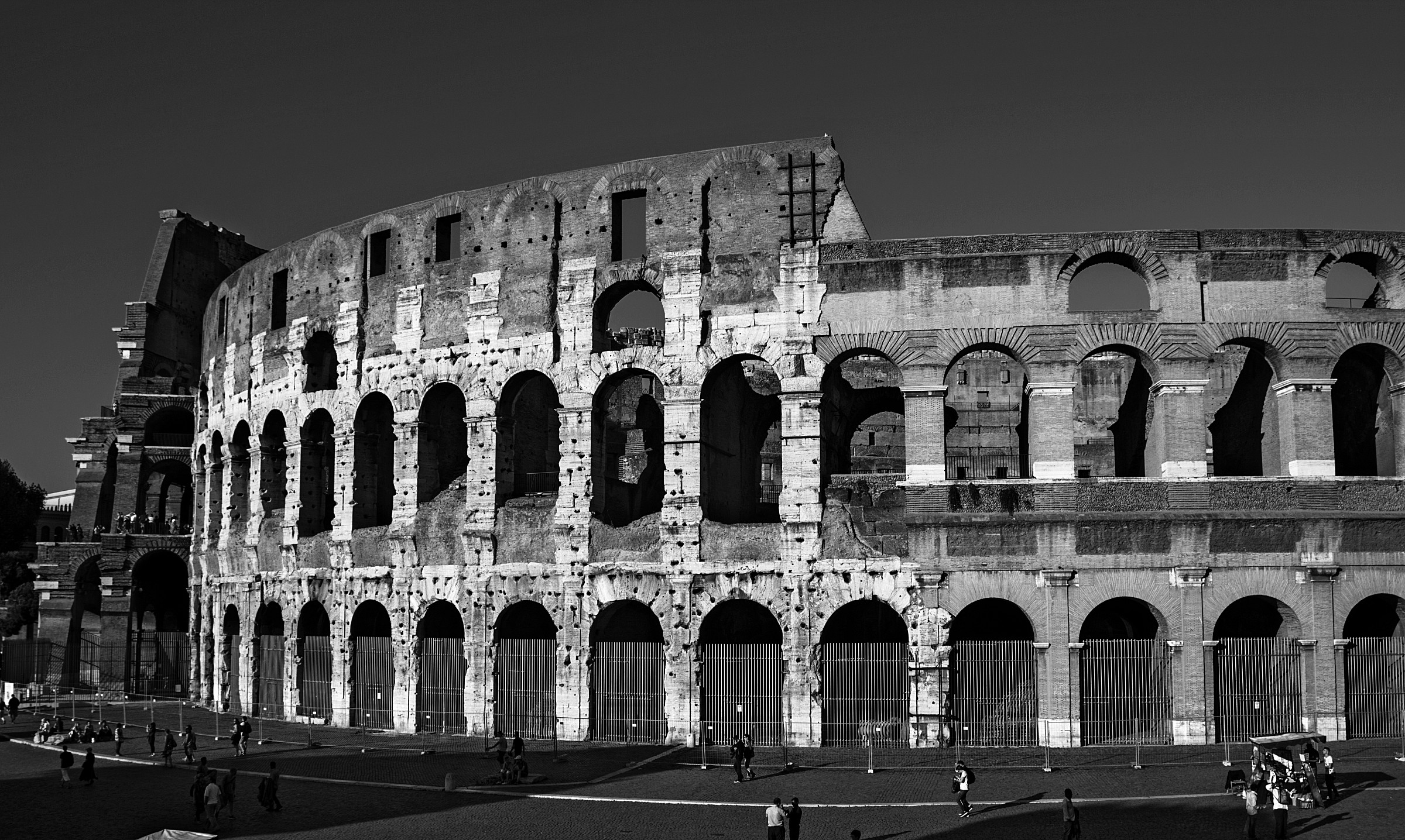 Colosseum in black and white...