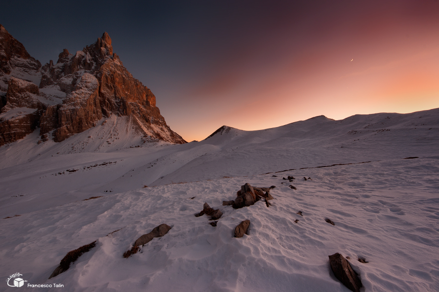 The last colours of the Dolomites...