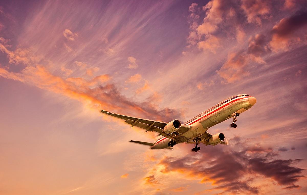 Landing at sunset...