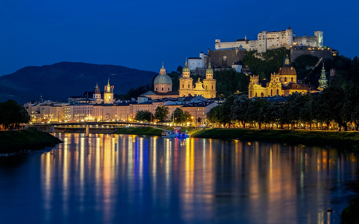 Salzburg in the blue hour...