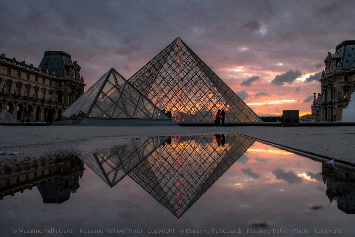 The magic of the Louvre...