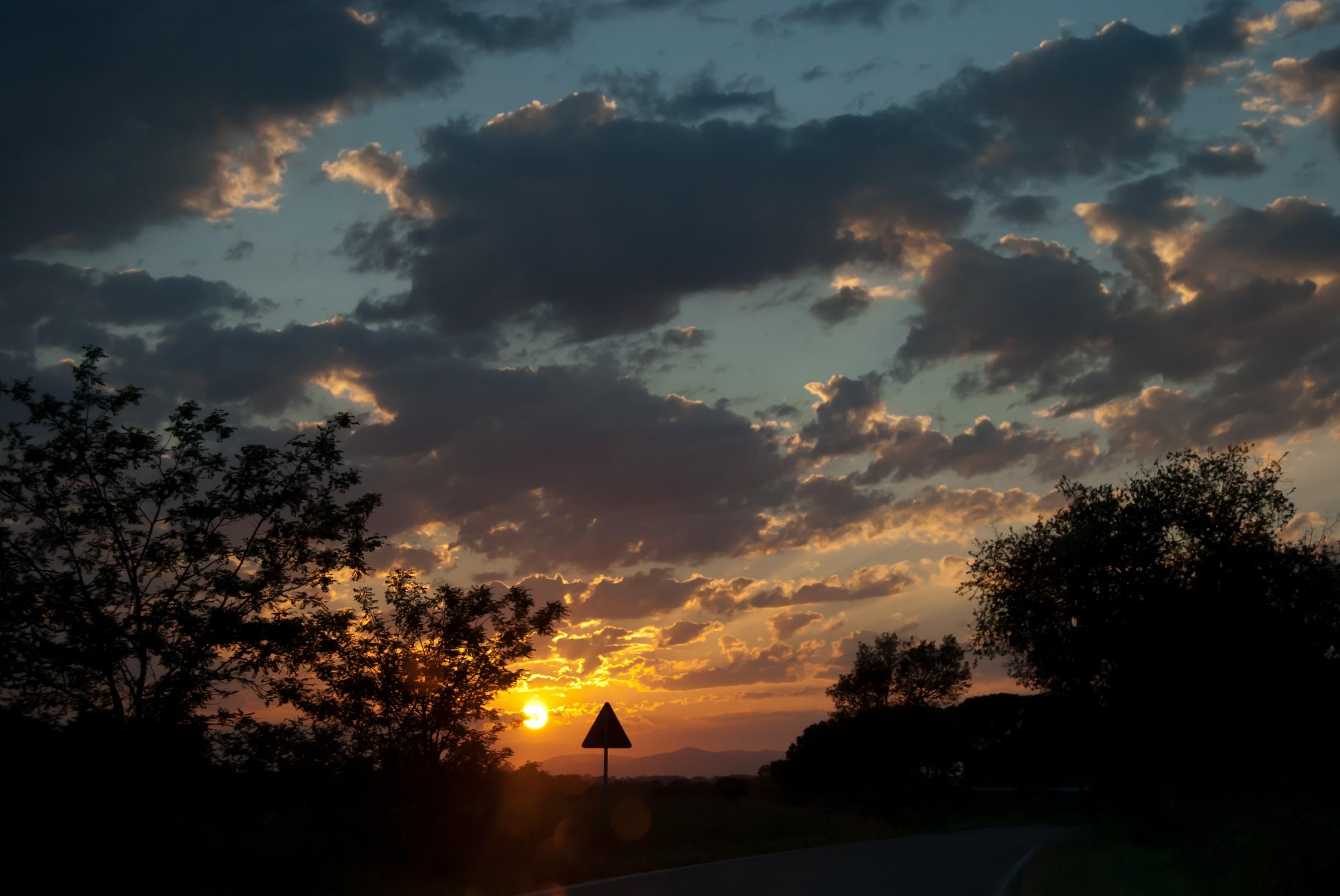 Warning: sunset...