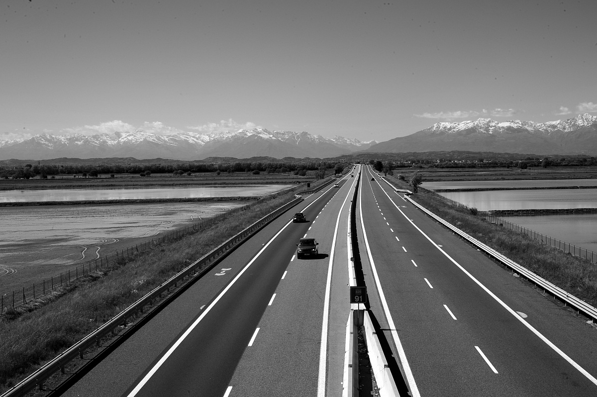 towards the Alps...