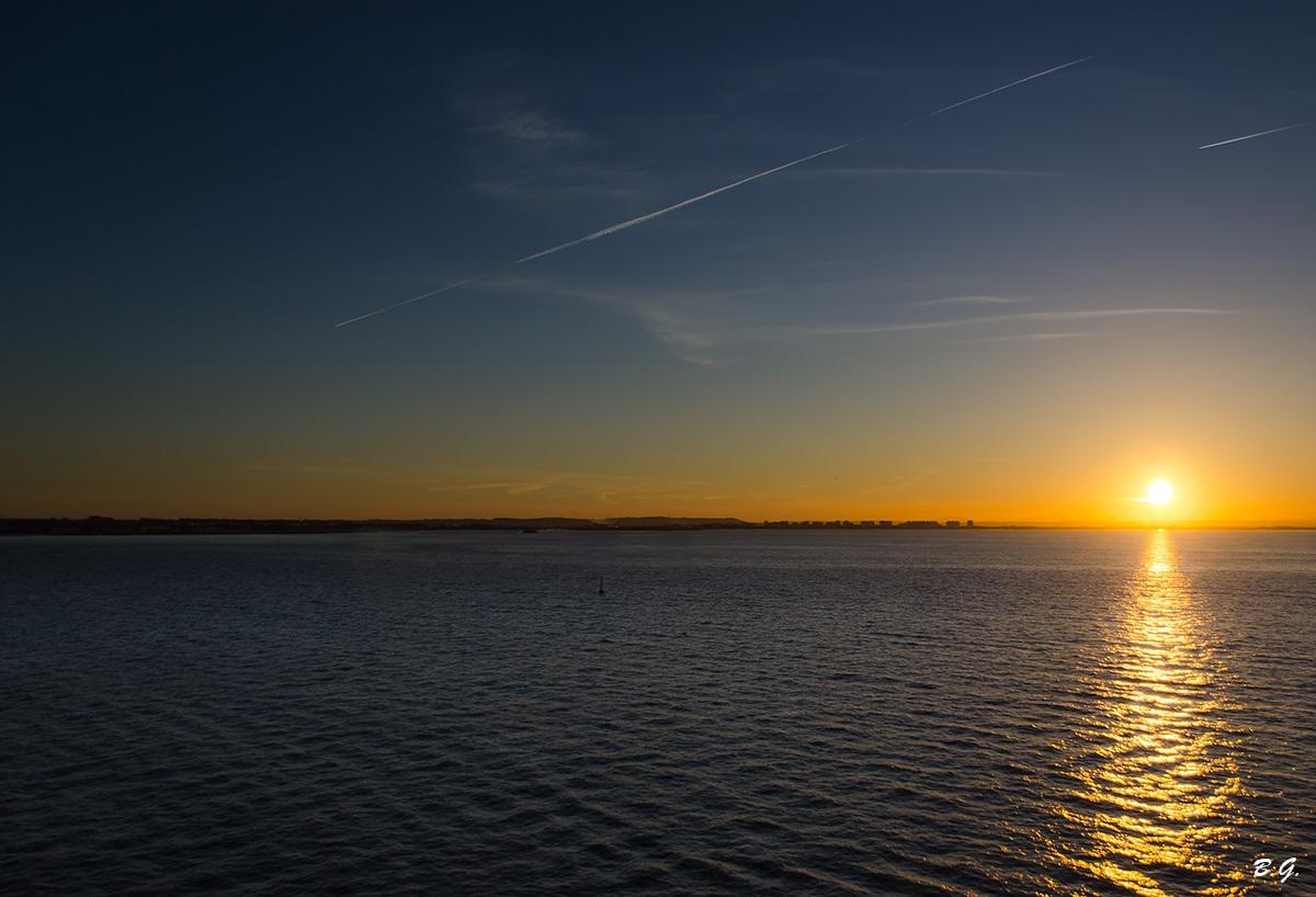 A sunrise over the sea...