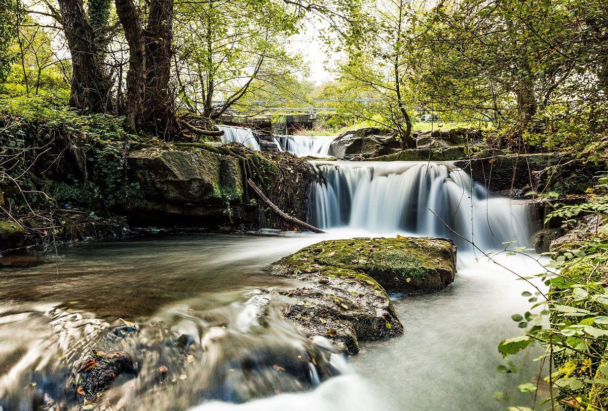 The Monte Gelato waterfalls...