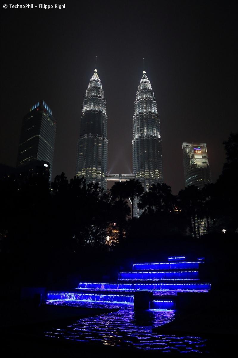 Petronas Towers nightscape...
