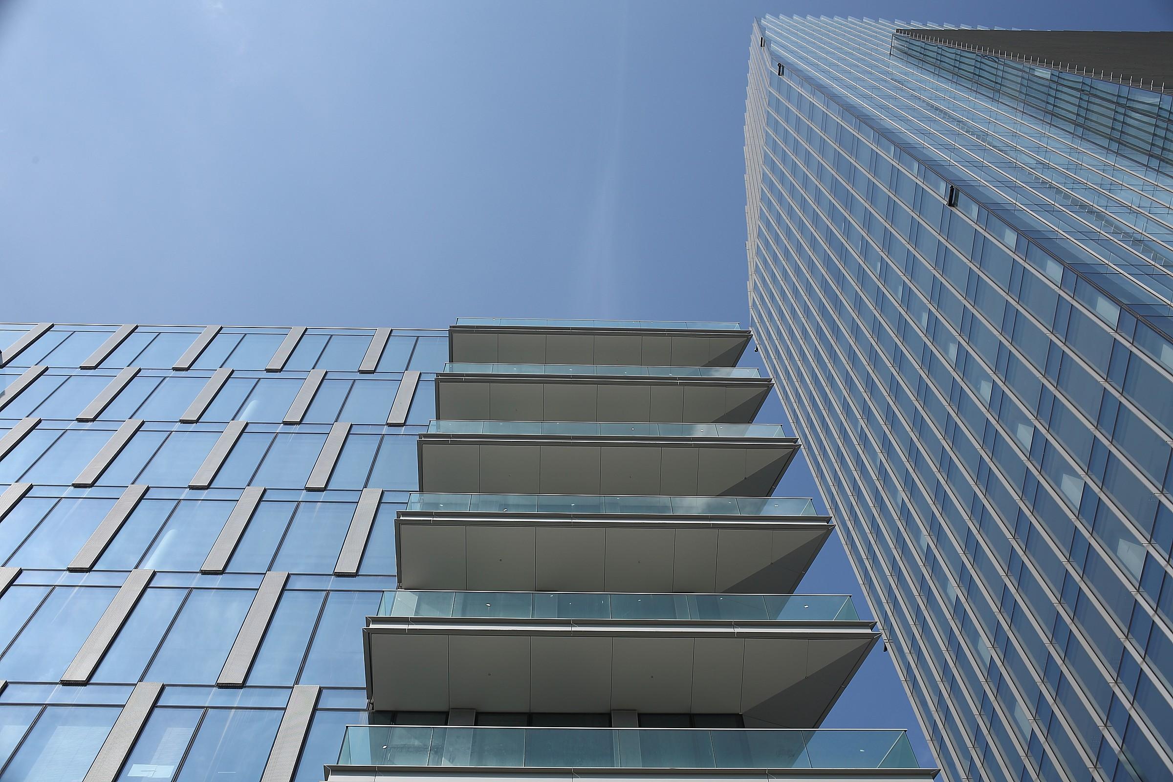 blue balconies...