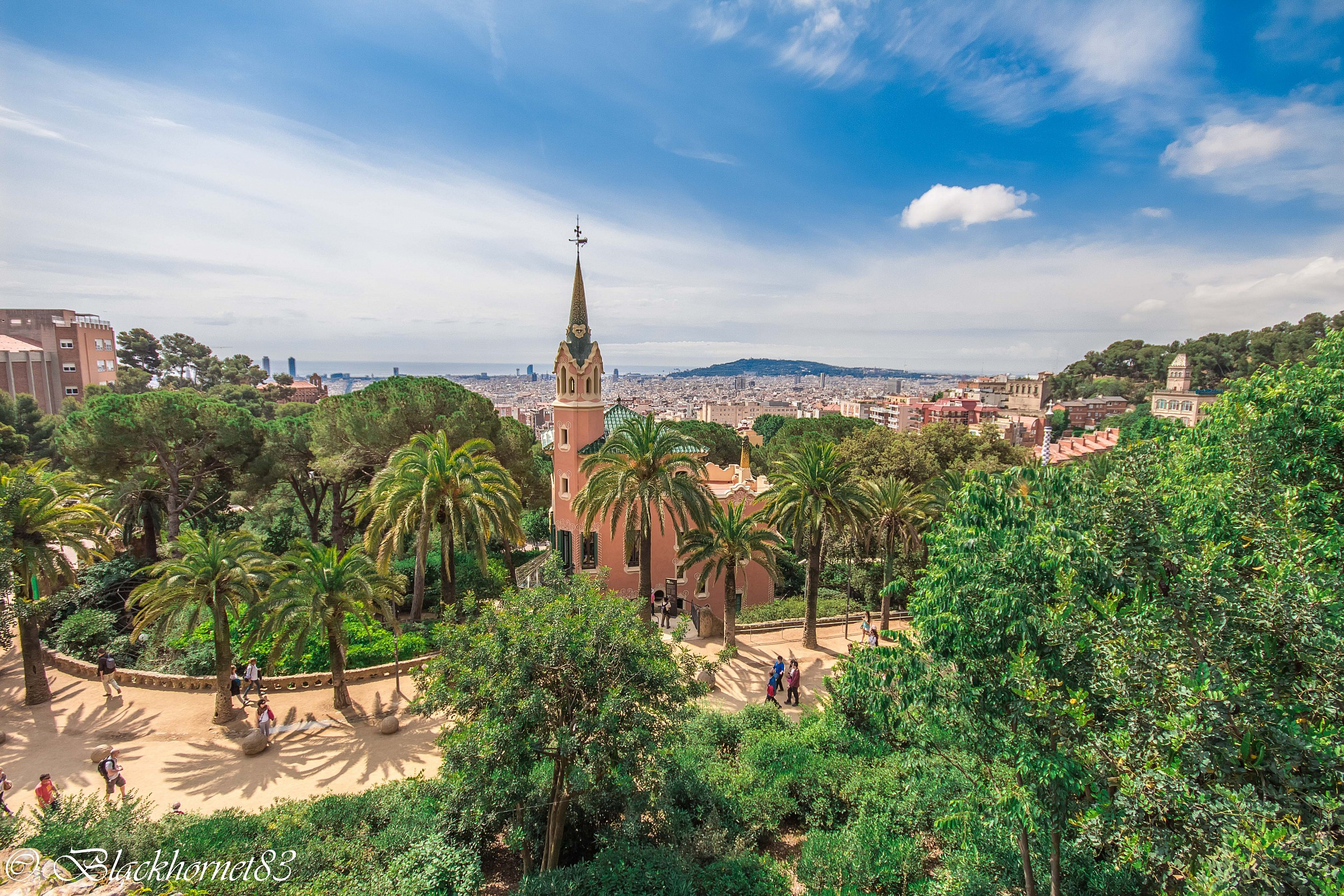 Barcelona view from Parc Guell...