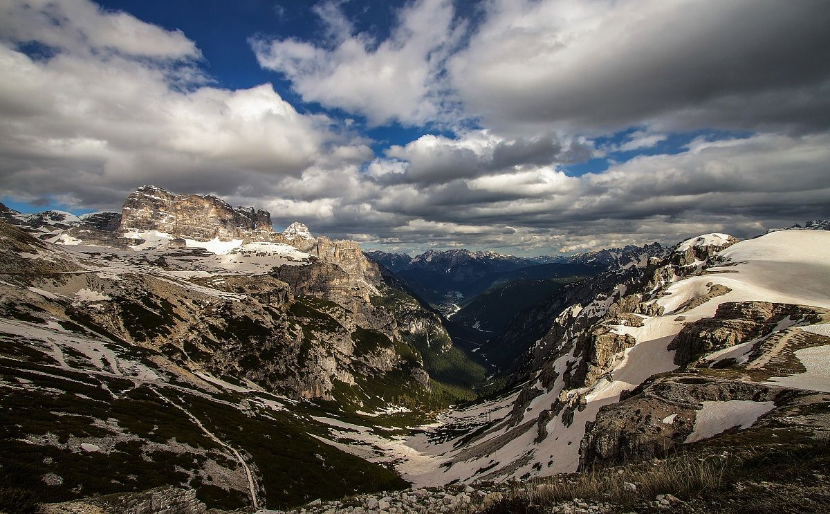 View from the Rifugio Auronzo...