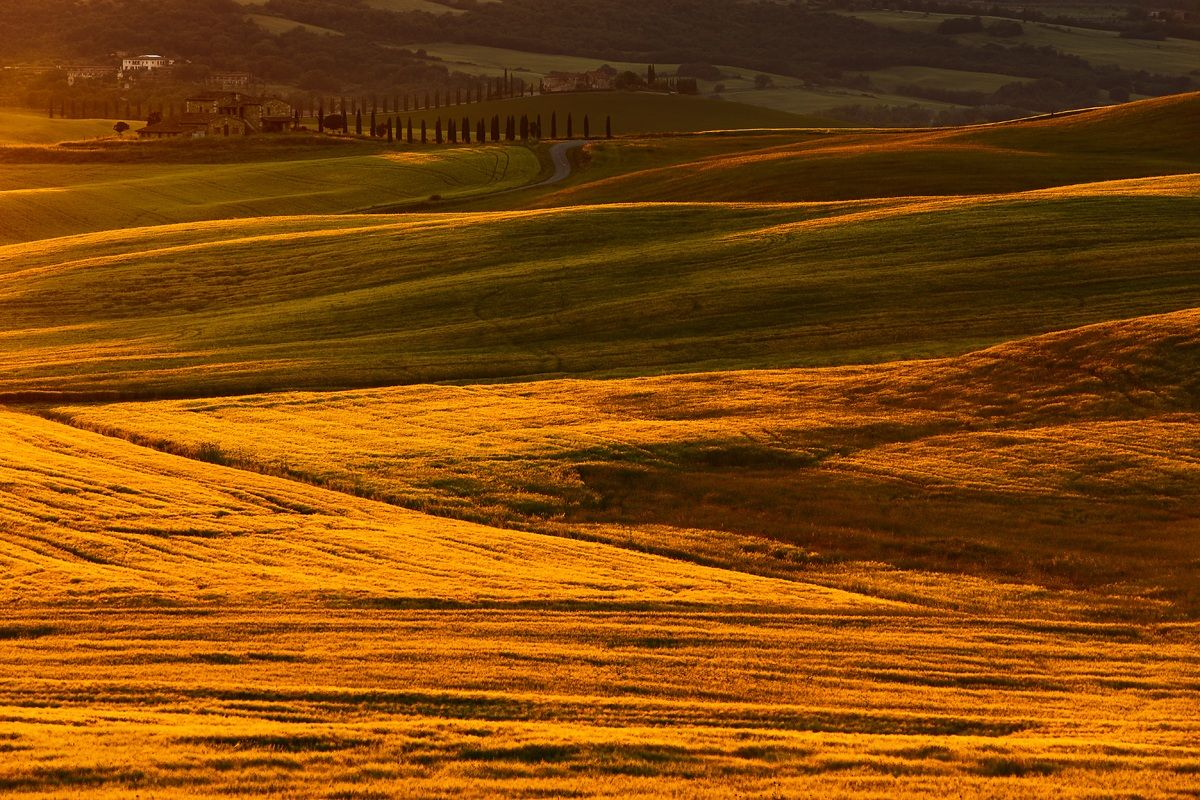Let there be light? (In the Val d'Orcia)...