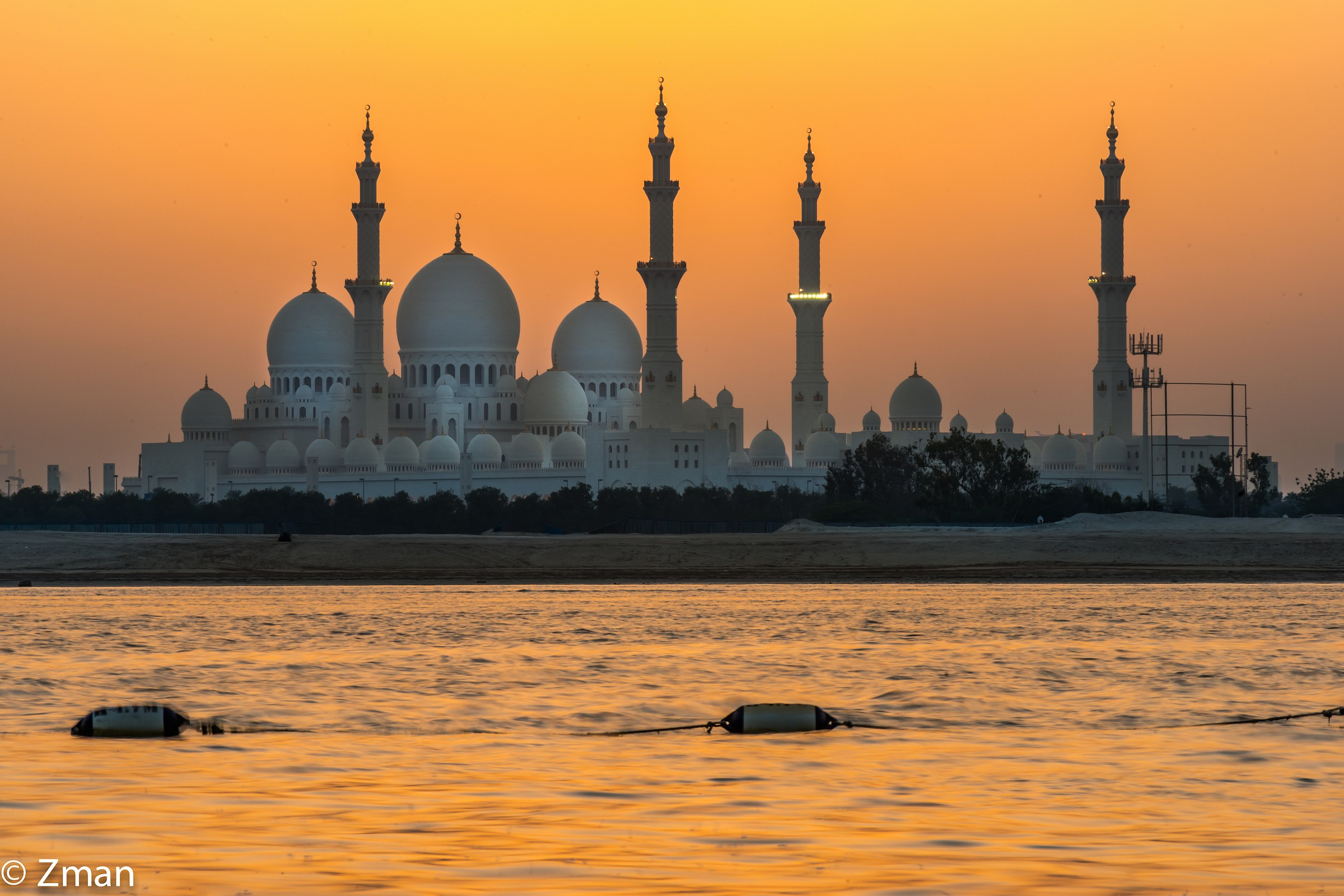 Shk Zayed Mosque Just after Sunset...