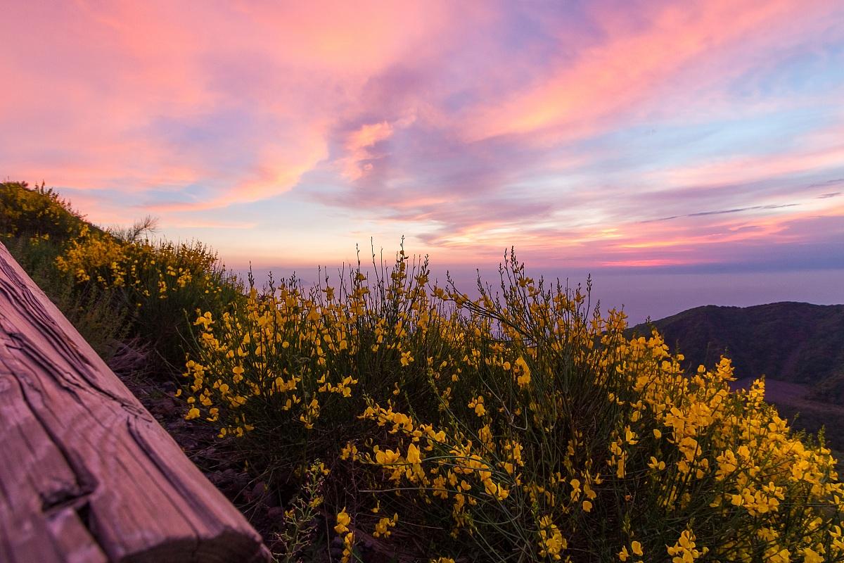 Il tramonto dal Vesuvio...