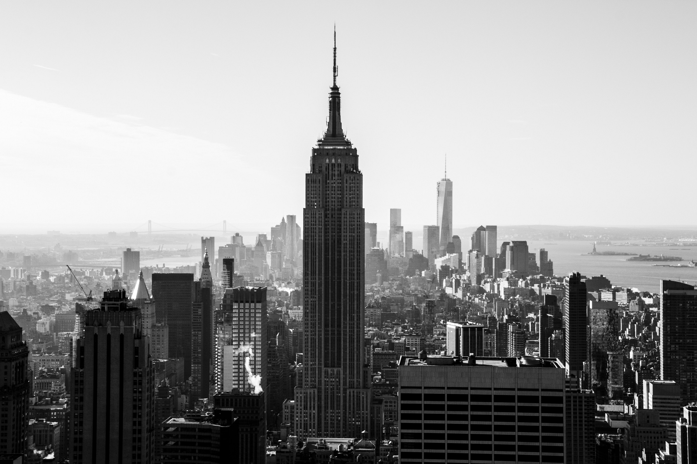 Empire State Building from Rockefeller Center BW...