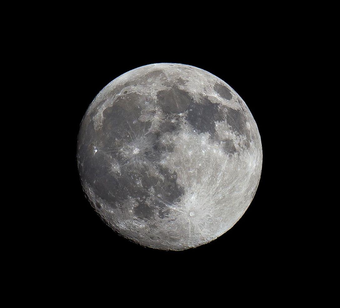 Nearly full moon...