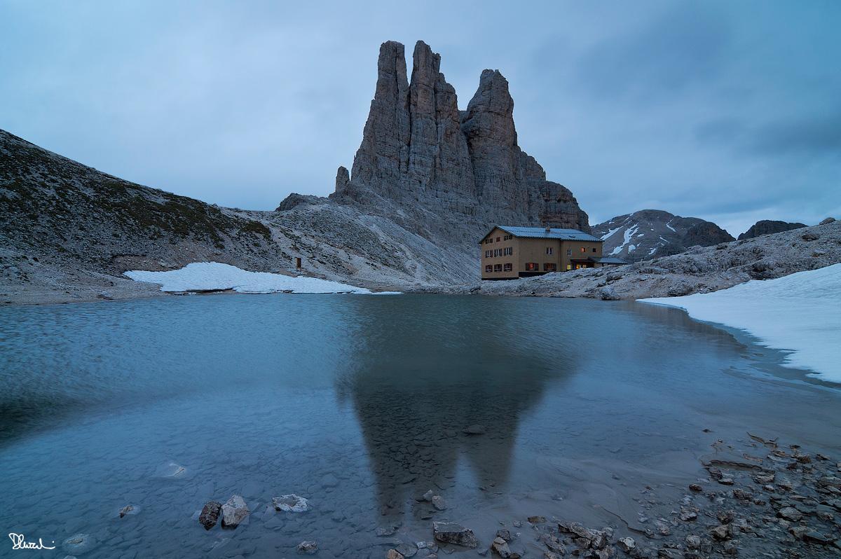 Torri del Vajolet e rifugio Re Alberto...